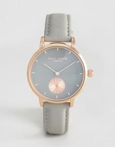 Часы с серым кожаным ремешком Daisy Dixon - Серый