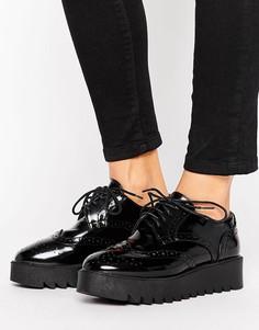 Броги на платформе Vero Moda - Черный
