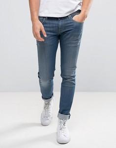 Джинсы слим с выбеленным эффектом Pepe Jeans Finsbury - Синий