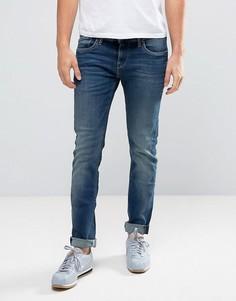 Узкие джинсы с заломами Pepe Jeans - Синий