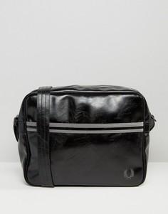 Классическая черная сумка почтальона Fred Perry - Черный