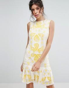 Цельнокройное платье мини с пайетками Frock & Frill - Белый