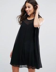 Цельнокройное платье с лифом сердечком BCBG - Черный