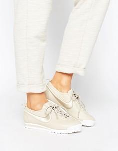 Бежевые кроссовки Nike Cortez 72 Premium - Бежевый