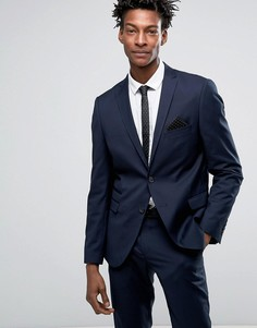 Приталенный пиджак Selected - Темно-синий