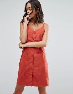 Платье на пуговицах Jovonna Dandy - Оранжевый