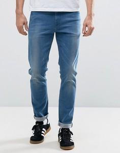 Умеренно выбеленные джинсы скинни ASOS - Синий
