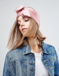Широкий шифоновый головной платок ASOS - Розовый