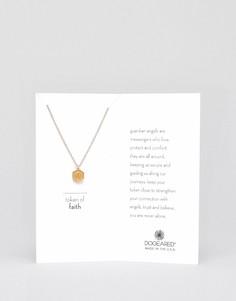 Ожерелье с позолоченной подвеской Dogeared Token of Faith - Золотой