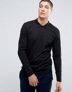 Поло премиум-класса с длинными рукавами Jack & Jones - Черный