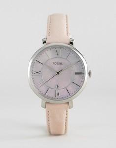 Часы с кожаным ремешком Fossil Jacqueline - Серебряный