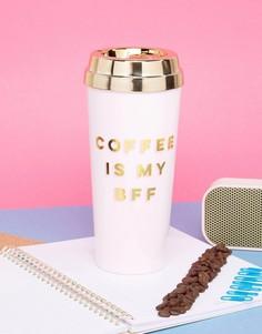 Дорожная кружка с надписью Coffee Is My BFF Ban.Do - Мульти