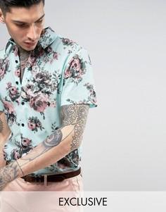 Рубашка классического кроя Reclaimed Vintage Inspired Party - Синий