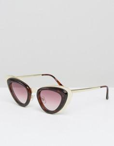 Солнцезащитные очки кошачий глаз в стиле ретро Minkpink - Коричневый