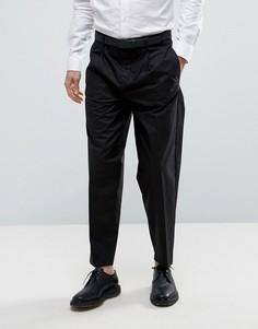 Суженные книзу хлопковые брюки Selected Homme - Черный