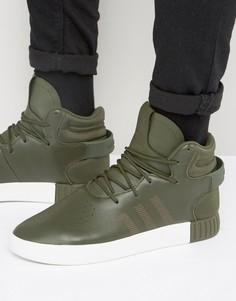 Зеленые кроссовки adidas Originals Tubular Invader - Зеленый
