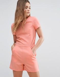 Ромпер с короткими рукавами First & I - Розовый