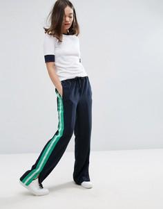 Широкие брюки с полосой сбоку Monki - Темно-синий