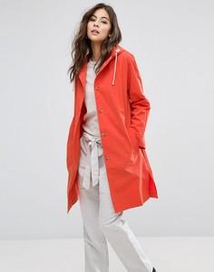 Макинтош-дождевик с капюшоном YMC - Красный