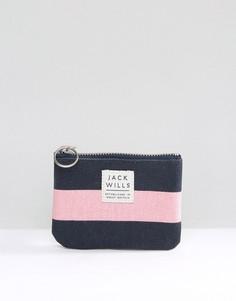 Сине-розовый кошелек для мелочи с молнией сверху Jack Wills - Мульти
