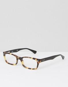 Очки с прозрачными стеклами Ray Ban - Коричневый