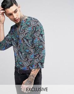 Рубашка классического кроя в стиле 70-х Reclaimed Vintage Inspired - Синий