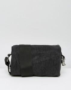 Небольшая сумка в форме цилиндра с ремешком через плечо Weekday - Черный