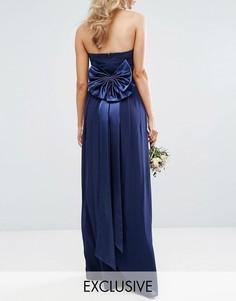 Атласный ремень с бантом TFNC WEDDING - Темно-синий
