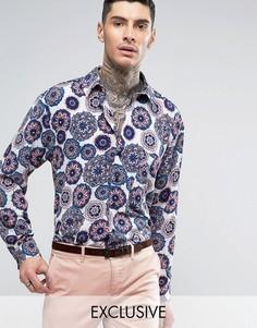 Фестивальная рубашка приталенного кроя Reclaimed Vintage Inspired - Синий