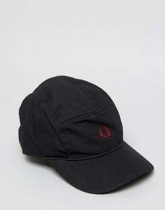 Черная хлопковая кепка с логотипом Fred Perry - Черный
