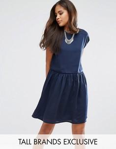 Платье без рукавов с заниженной талией Noisy May Tall - Темно-синий