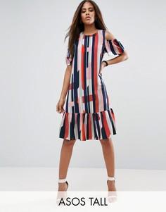 Платье в полоску ASOS TALL - Мульти