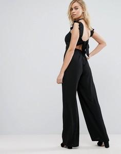 Комбинезон с завязкой на спине Fashion Union - Черный