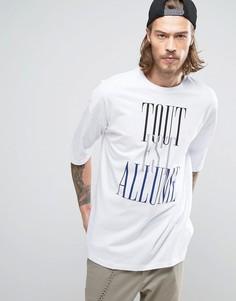 Oversize-футболка с принтом ASOS - Белый