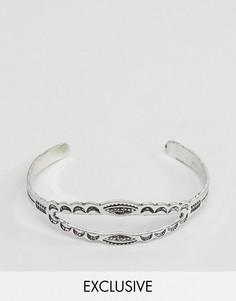 Незамкнутый браслет-манжета Reclaimed Vintage - Серебряный