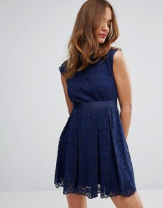 Кружевное платье Sisley - Темно-синий