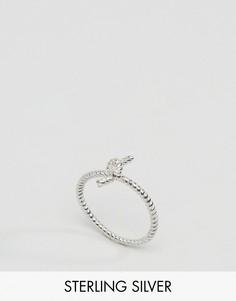 Серебряное кольцо с узлом Reclaimed Vintage - Серебряный