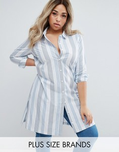 Длинная рубашка в полоску Junarose - Мульти