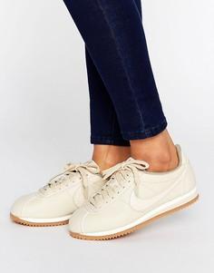 Кроссовки-премиум овсяного цвета Nike Cortez - Бежевый