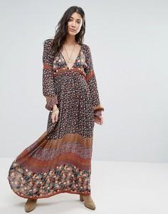 Платье макси с глубоким вырезом спереди Raga Tuscan Sunset - Мульти