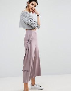 Юбка-брюки с узлом сбоку ASOS - Серый