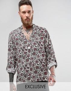 Рубашка через голову классического кроя Reclaimed Vintage - Белый