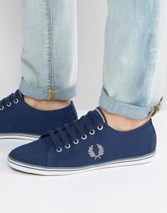 Темно-синие парусиновые кроссовки Fred Perry Underspin - Темно-синий