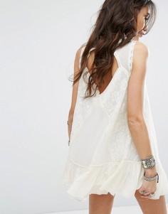 Кружевное платье Free People One Angel - Белый