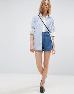 Джинсовая юбка-шорты синего цвета ASOS - Синий