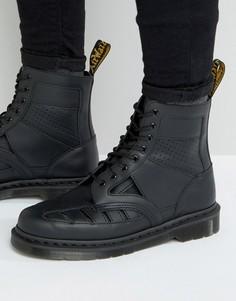 Ботинки с вырезами и люверсами Dr Martens - Черный