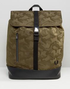 Камуфляжный рюкзак Fred Perry - Зеленый