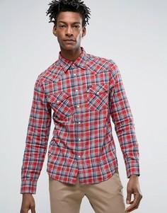 Красная приталенная рубашка в стиле вестерн Lee - Красный