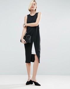 Платье-футляр в стиле колор блок с запахом ASOS - Мульти