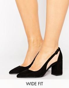 Туфли-лодочки для широкой стопы из искусственной замши New Look - Черный